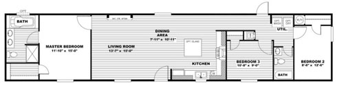 Single Wide Manufactured Homes Affordable Living
